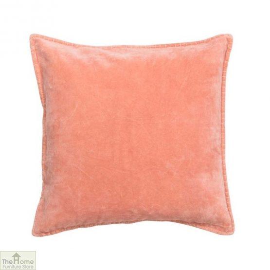 Pale Peach Velvet Cushion Cover