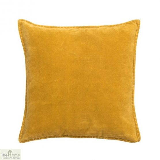Pale Yellow Velvet Cushion Cover