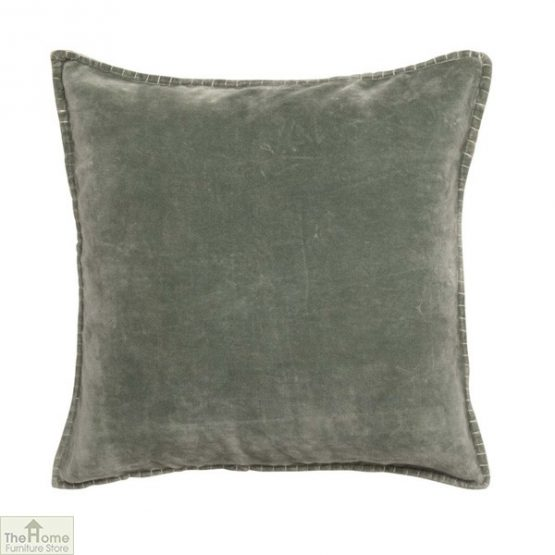 Pale Green Velvet Cushion Cover
