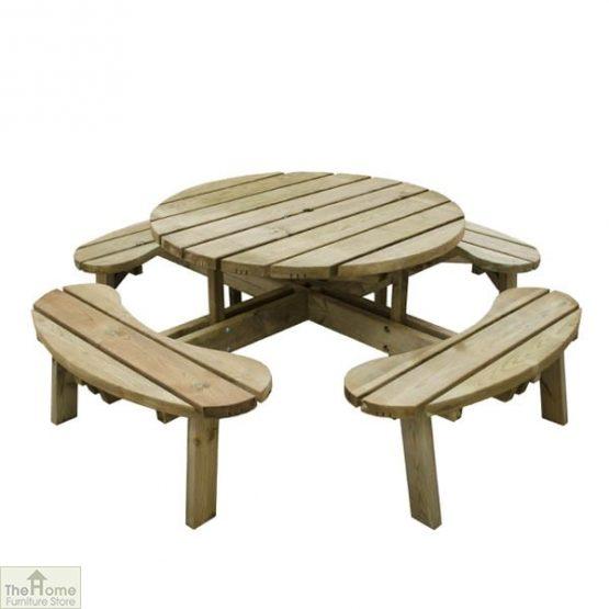 8 Seater Circular Picnic Table_3