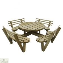 8 Seater Circular Picnic Table