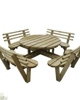 8 Seater Circular Picnic Table