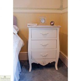Devon Shabby Chic Bedside Table 3 Drawer_1