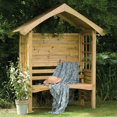 Small Wooden Arbour Seat_2