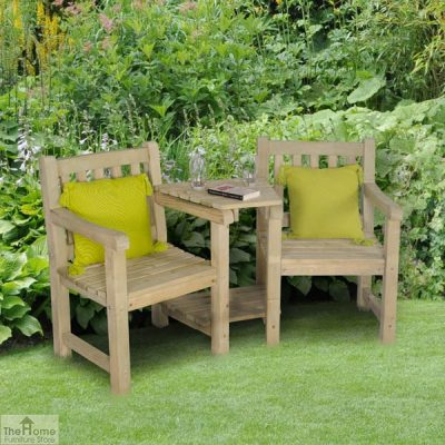 2 Seater Wooden Companion Bench_2