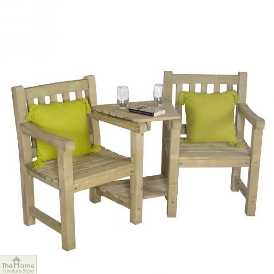2 Seater Wooden Companion Bench_1