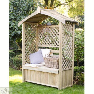Wooden Arbour Storage Seat_1