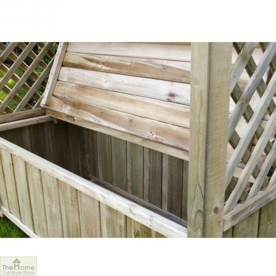 Wooden Arbour Storage Seat_2
