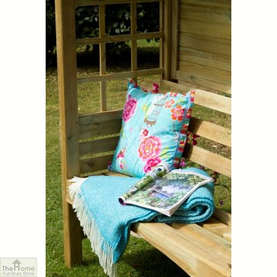 Small Wooden Arbour Seat_3