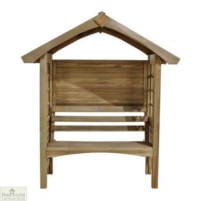Small Wooden Arbour Seat_1