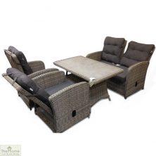 Casamoré Milan Reclining Sofa Set in Flint