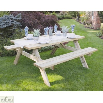 Large Rectangular Picnic Table_2