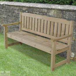 3 Seater Wooden Garden Bench_1