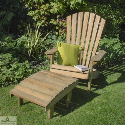 Wooden Garden Footstool_1