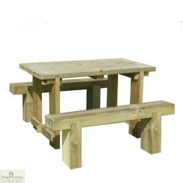 Small Sleeper Bench Table Set