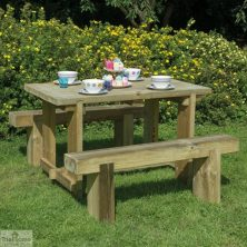 Small Sleeper Bench Table Set
