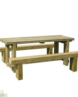 Large Sleeper Bench Table Set