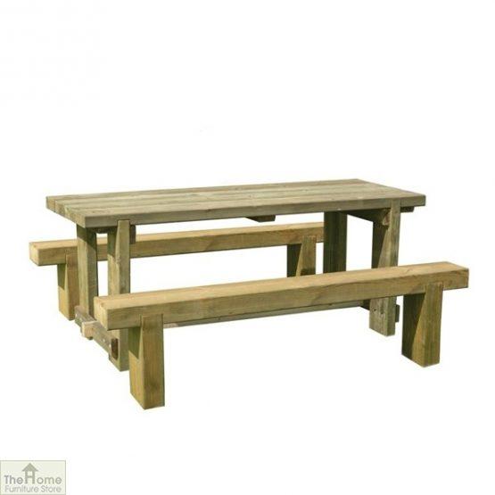 Large Sleeper Bench Table Set
