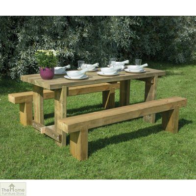 Large Sleeper Bench Table Set_1
