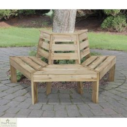 3 Seater Wooden Tree Seat_1