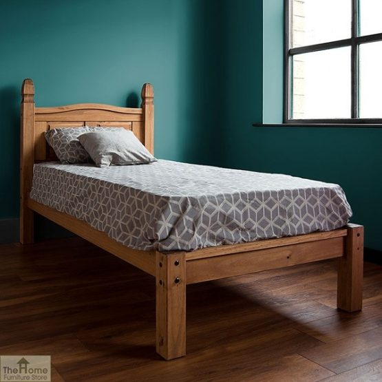 Solid Pine Single Bed Low Foot End_3
