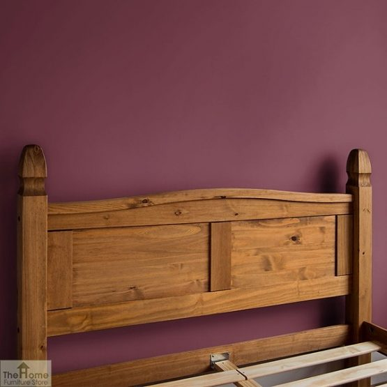 Solid Pine Double Bed Low Foot End_4