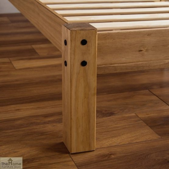 Solid Pine Double Bed Low Foot End_6