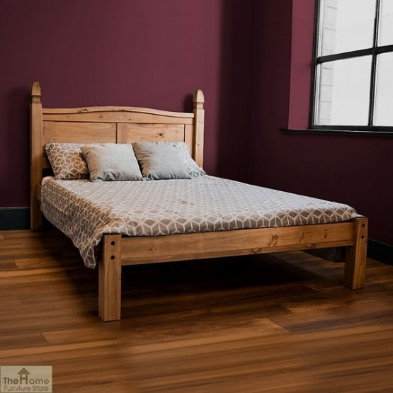 Solid Pine King Size Bed Low Foot End_3