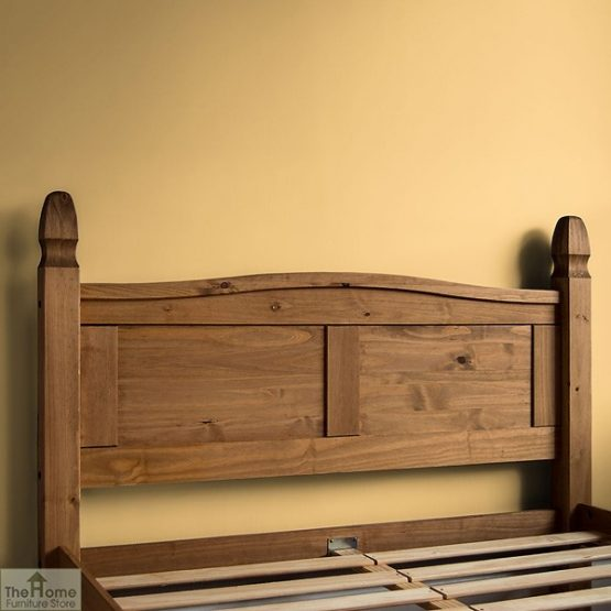 Solid Pine Double Bed High Foot End_4