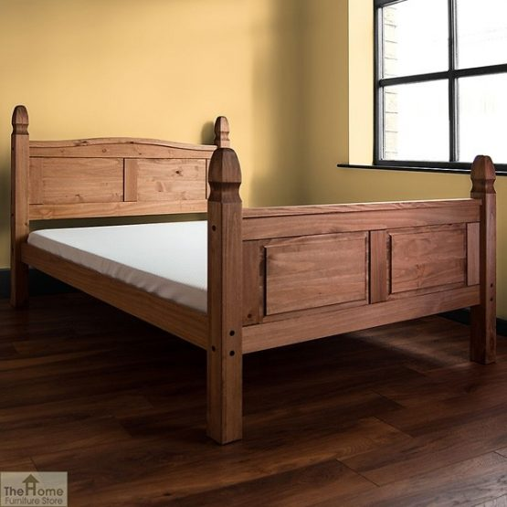 Solid Pine King Size Bed High Foot End_2