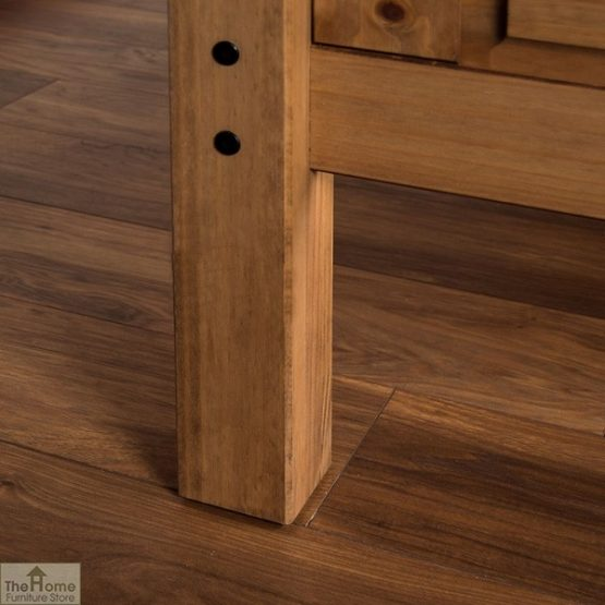 Solid Pine King Size Bed High Foot End_6