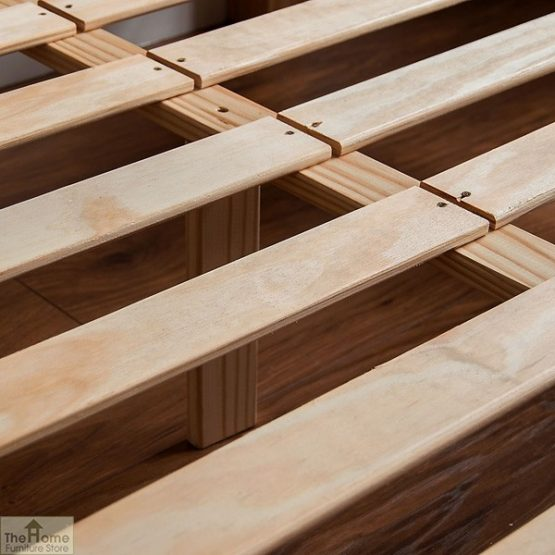 Solid Pine King Size Bed High Foot End_7
