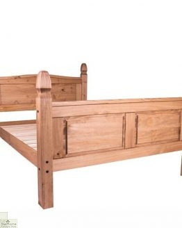 Solid Pine King Size Bed High Foot End