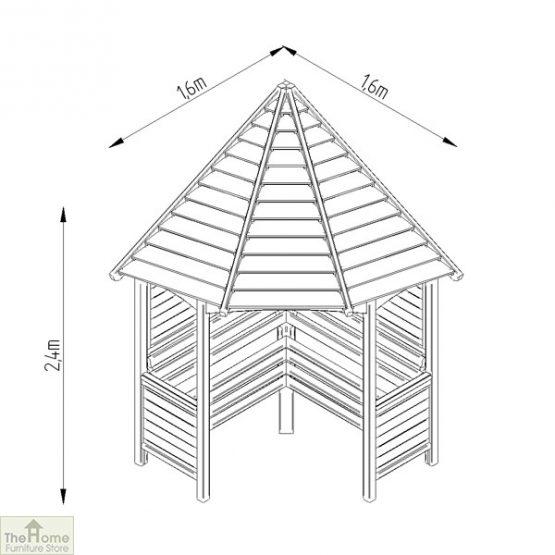 Large Wooden Corner Arbour Seat_4
