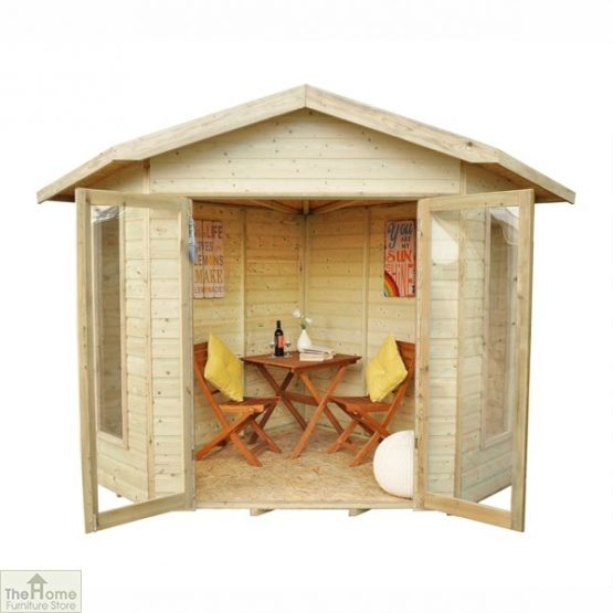 Corner Wooden Summerhouse_1