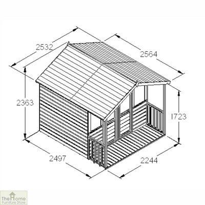 Large Veranda Wooden Summerhouse_8