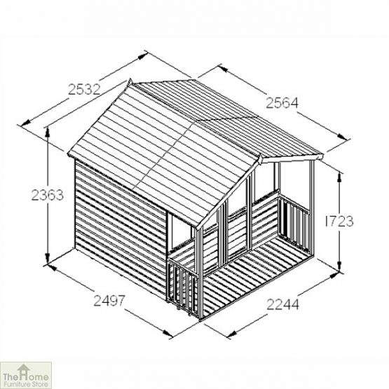 Large Veranda Wooden Summerhouse_8