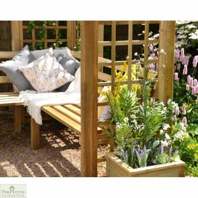 Large Wooden Trellis Arbour Bench_2