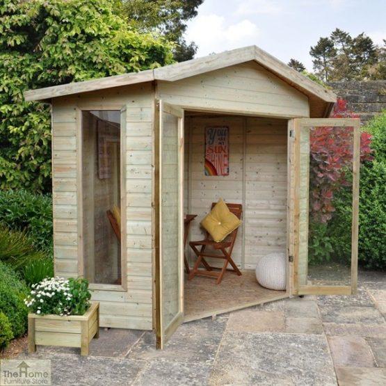 Corner Wooden Summerhouse_2