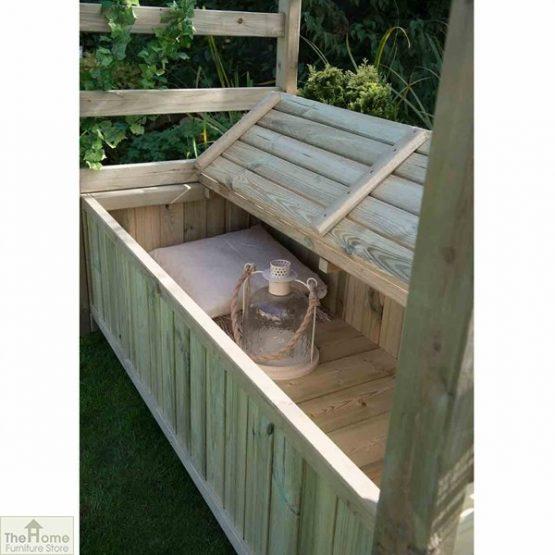Wooden Arch Arbour Storage Seat_2
