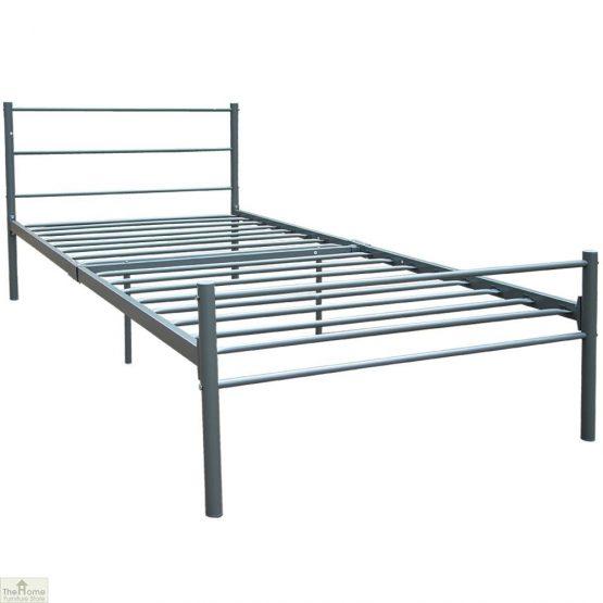 Metal Frame Single Bed Silver
