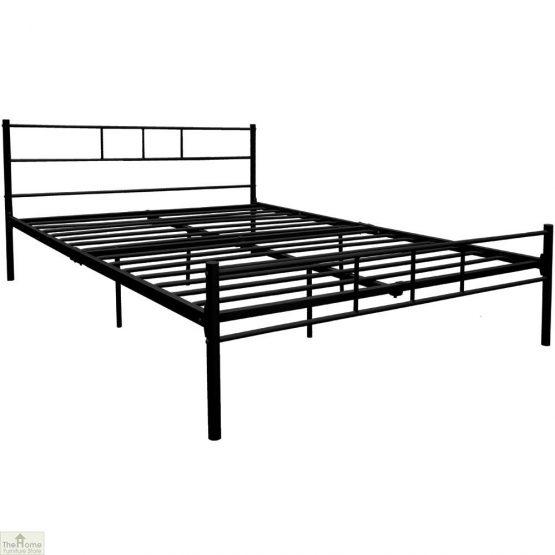 Metal Frame Double Bed Black