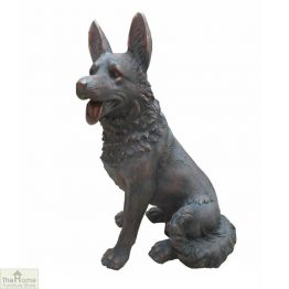 German Shepherd Dog Garden Statue