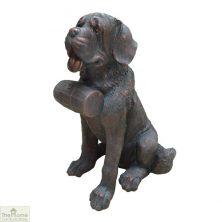 St. Bernard Dog Garden Statue