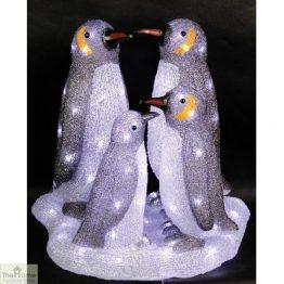 LED Penguin Family Christmas Lights