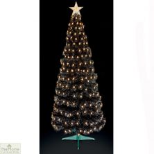 1.8m Black Fibre Optic Christmas Tree