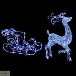 LED Reindeer & Sleigh Christmas Light