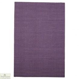 Purple Rectangular Jute Rug