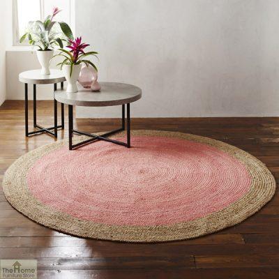 Pink Round Jute Rug_1