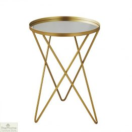 Gold Round Side Table